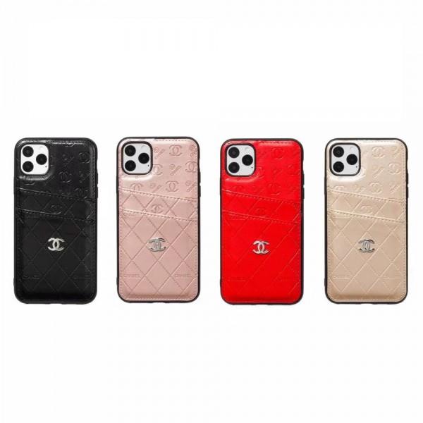 シャネル/Chanel iphone 11/11 Pro/11 Pro Max/Xr/Xs maxケース アイフォン X/8/7 plusジャケットカバーカードポケット付きエナメル製