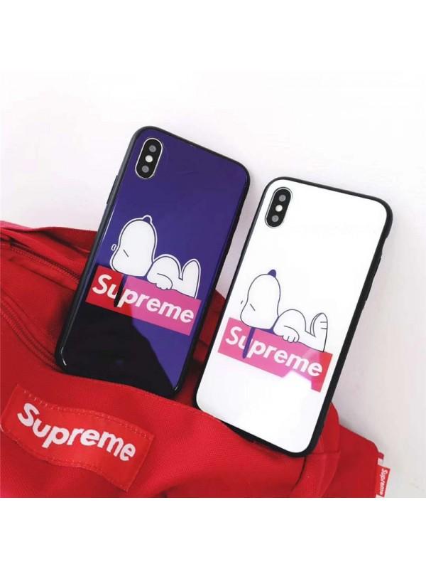 シュプリーム/Supreme  iPhone 13/12mini/12 pro/12 Pro Maxケース  galaxy S20 xperia 1/10 ii 5/8 xz2/xz3 iPhone 11/11 Pro Max/Xr/Xs Max/Xsケース シュプリーム iphone X/8/7スマホケース ブランドIphone6/6s Plusカバー ジャケット スヌーピー 可愛