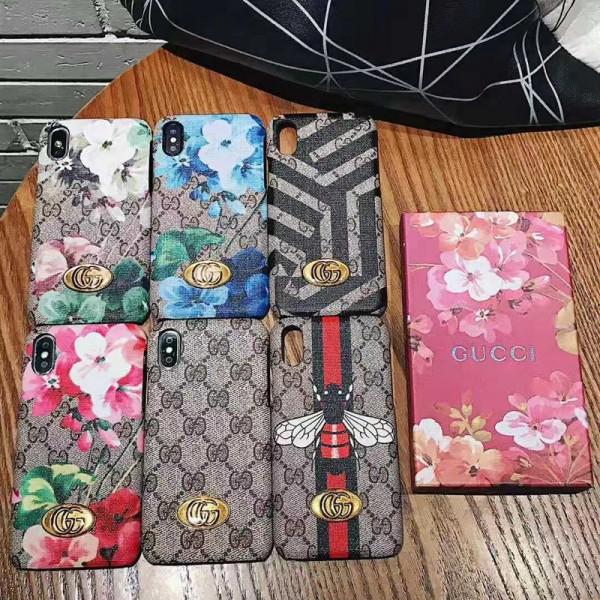 グッチ galaxy S20/S10+ケースブランド iphone Xr/Xs Maxケース自然風花柄 iphone SE2/X/8/7 Plusケース個性  iphone 12/11 Pro Maxケースファッション人気