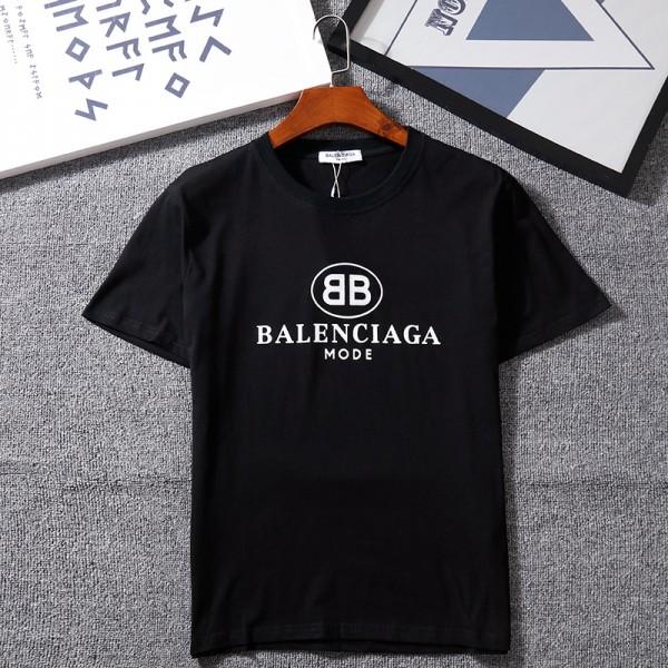 バレンシアガ/Balenciaga tシャツ半袖 潮流個性人気 ペアコットン製ソフト ファッションシンプル潮流 男女向け