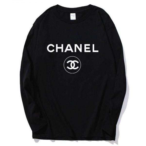 シャネル/chanel グッチ ルイヴィドン/lv 長袖 Tシャツ カジュアルルーズ コットン製上着 ファッションオシャレ男女兼用 選べる9つのスタイル