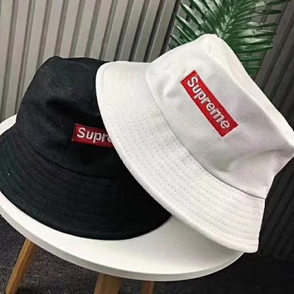 シュプリーム/supreme バケットハット ブラック ホワイト カップル 激安 お洒落 男女兼用 若者愛用 夏季用 Supreme 帽子 人気