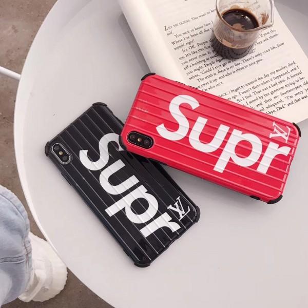 supreme xヴィトンコラボ iphone 12/11/11 pro maxケースチャンピオン iphone xr/xs maxケース 潮流個性 アイフォン x/se2/8/7 plusケース人気ファッションスーツケースデザイン