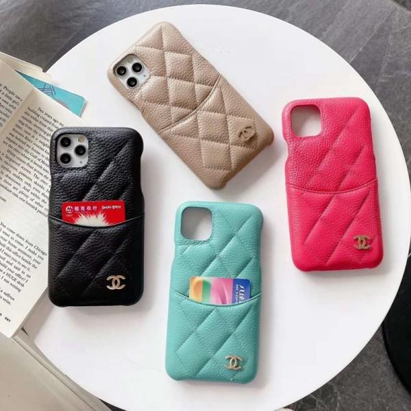 Chanel/シャネルアイフォン12/12 mini/12pro/12 pro maxケース キルティング 本革 iphone xs/x/8/7/se2ケース個性潮 ファッションシンプルiphone 11 pro/11/11 pro maxケースジャケット型 iphone12ケース 高級 人気