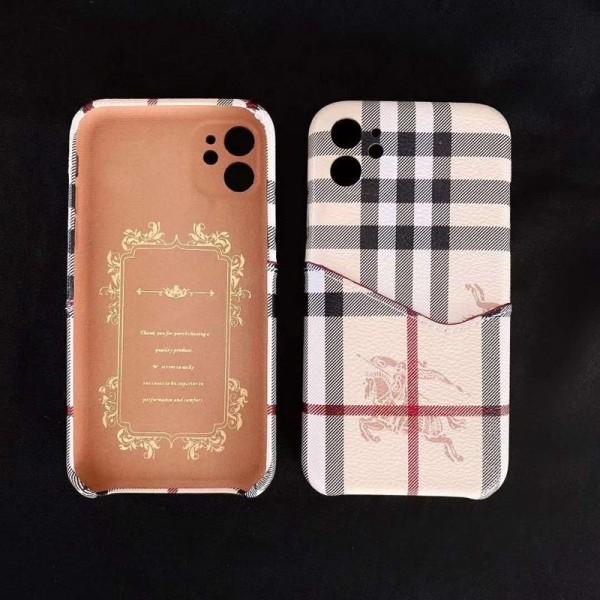 Burberry バーバリー ブランドiphone12/12 mini/12pro/12pro maxスマホケース カード入れブランド 男女兼用人気シンプル iphone 11/11pro maxケース ジャケットiphone se2/x/8/7 plusケース ファッション