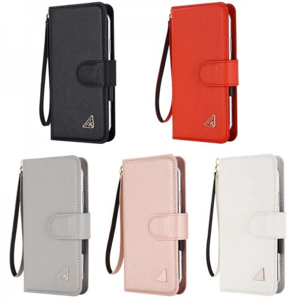 Prada/プラダ iphone 12/12mini/12 pro/12 pro max/11 pro max/se2ケース ペアお揃い galaxy note20ケース 人気ブランド Galaxy s10/s20+ケース 手帳型ケース 高級 人気 アイフォン12/11ケース ブランド レディース