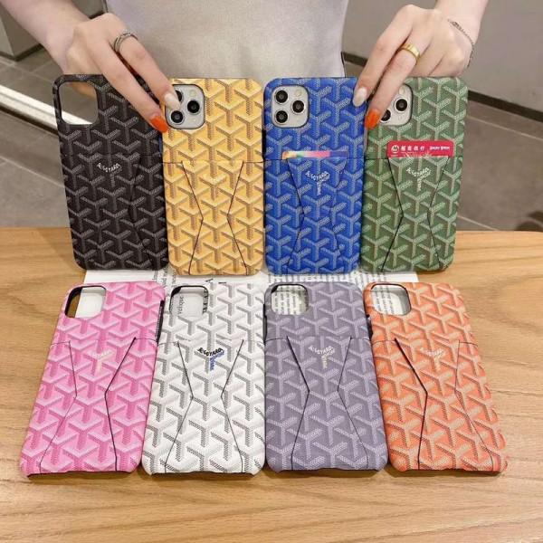 Goyard/ゴヤール ブランド iphone12/12mini/12pro/12pro maxケース かわいいiphone 11/7/8/se2ケース ビジネス ストラップ付きメンズ iphone11/11pro maxケース 安いアイフォン12カバー レディース バッグ型 ブランド