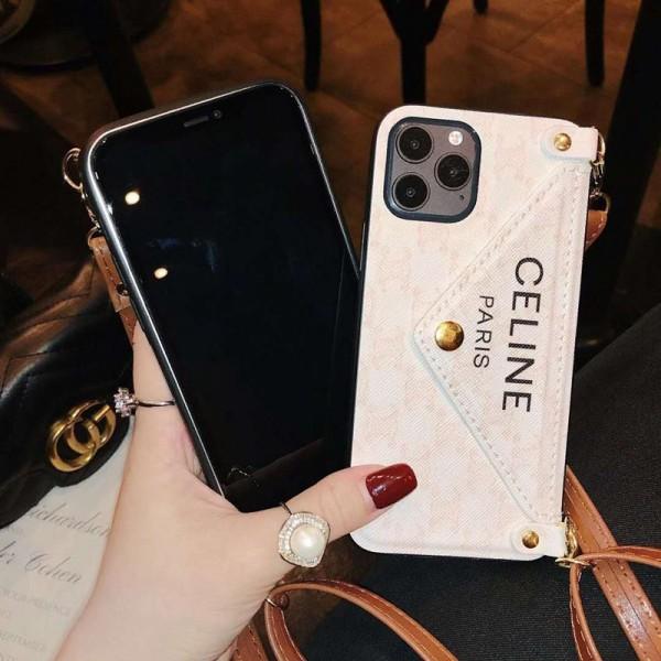 セリーヌ/celine ペアお揃い アイフォン12/12 mini/12 pro/12 pro maxケース iphone xs/x/8/7/se2ケース女性向け iphone xr/xs maxケースビジネス ストラップ付き個性潮 iphone x/xr/xs/xs maxケース ファッション